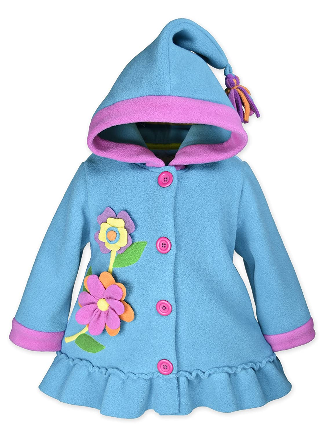 Widgeon Girls Hooded Fleece Flower Coat 3752