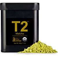 T2 Tea Organic Green Tea Matcha Powder in a Tin, 50 g