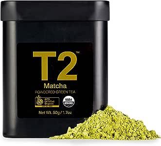 T2 Tea Organic Green Tea Matcha Powder in a Tin, 50 g