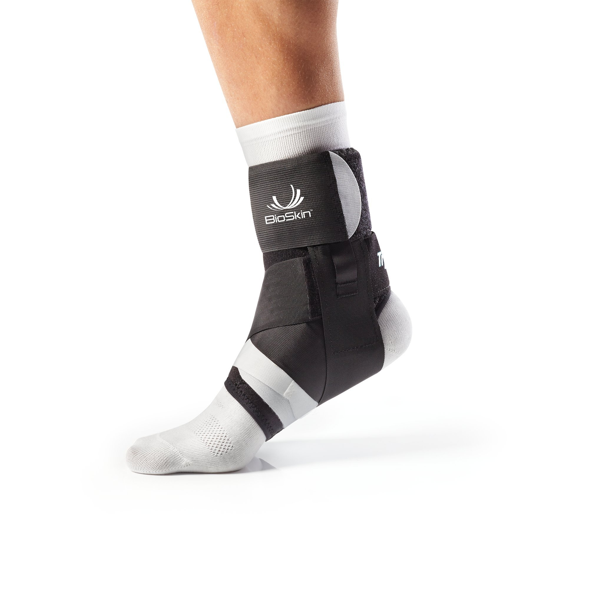 BioSkin Trilok Ankle Brace - Foot and Ankle Support for Ankle Sprains, Plantar Fasciitis, PTTD, Tendonitis and Active Ankle Stability - Lightweight, Hypo-Allergenic (XSmall)