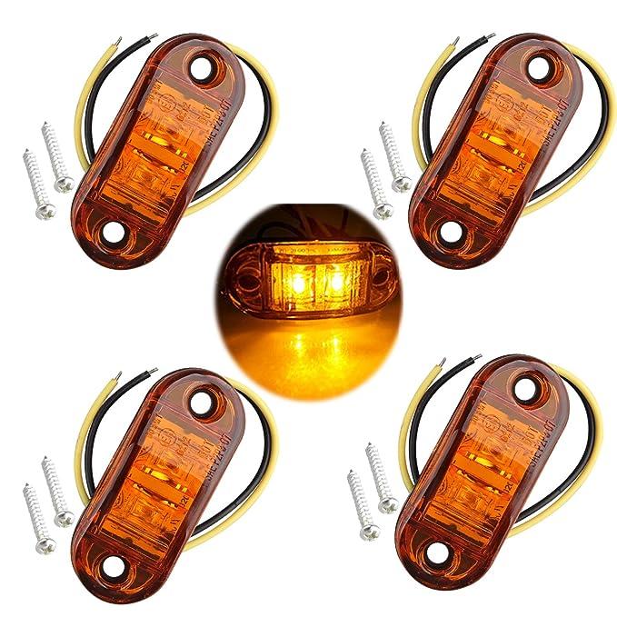 120 x 24V 24 Volt 6 LED Bernstein Seitliche Begrenzungsleuchte Position