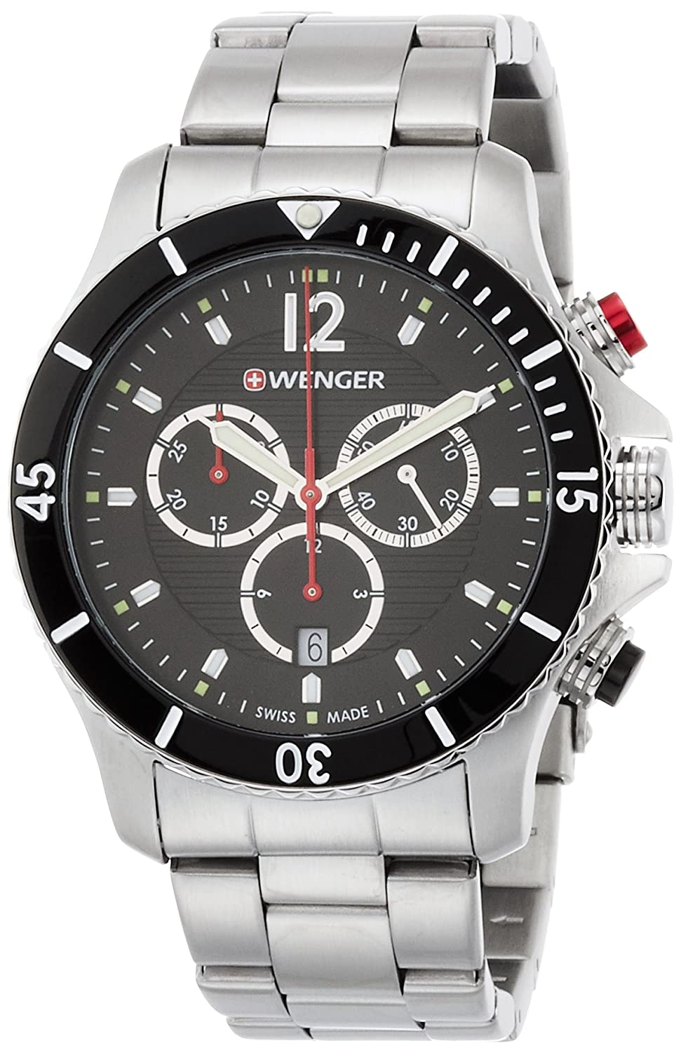 WEGNER Unisex-Armbanduhr 01.0643.109 WENGER SEAFORCE CHRONO Analog Quarz Edelstahl 01.0643.109 WENGER SEAFORCE CHRONO