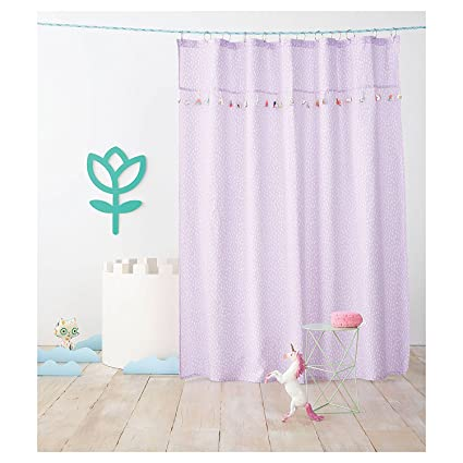 Pillowfort Tassel Shower Curtain Aster Purple