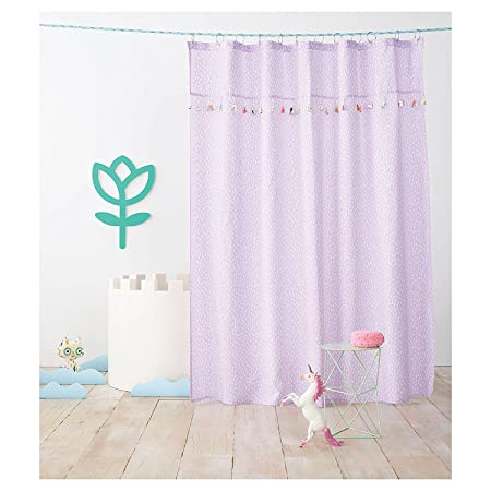 Pillowfort Tassel Shower Curtain Aster Purple Amazoncouk Kitchen Home