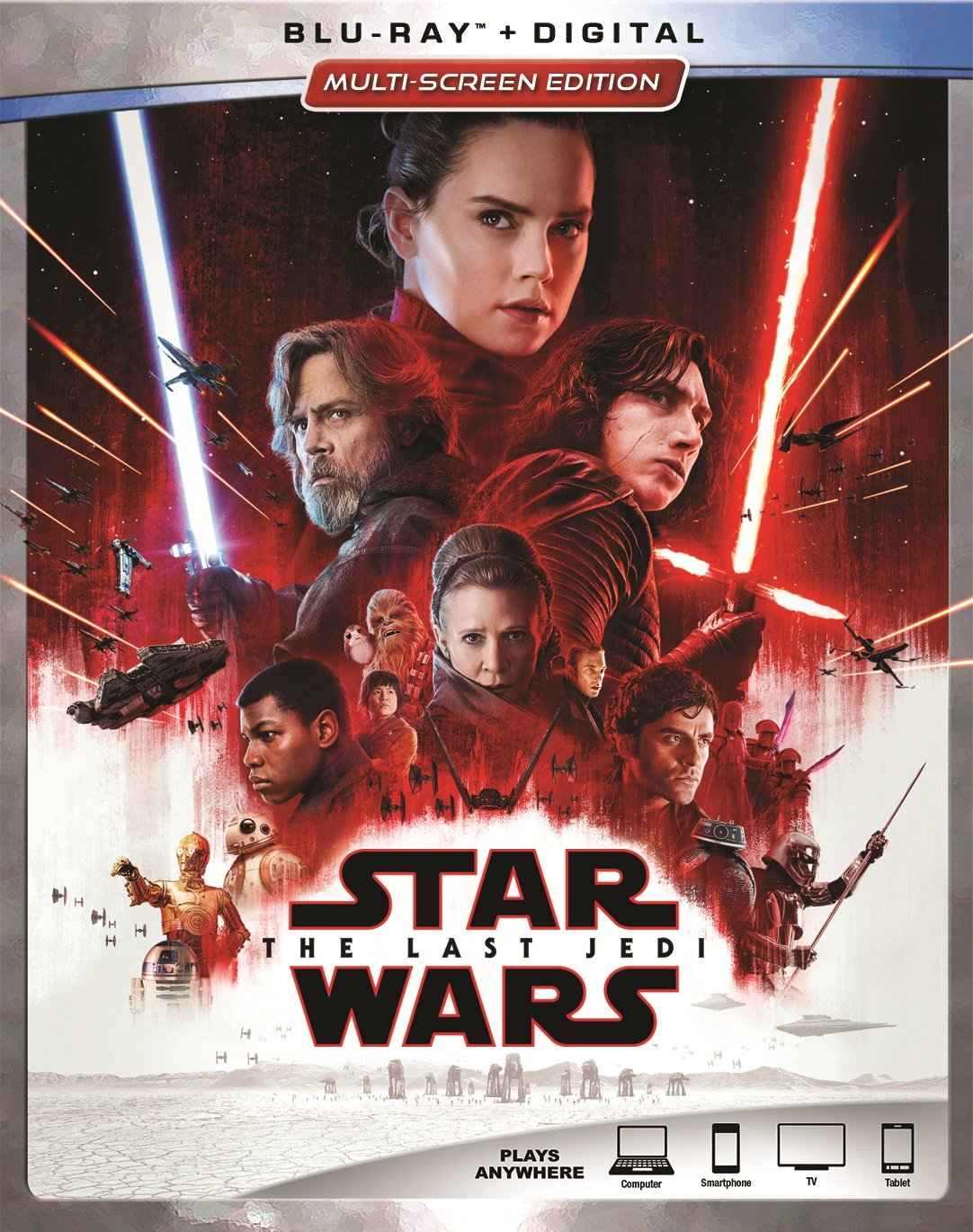 Star Wars: Episode VIII: The Last Jedi [Blu-ray] (Bilingual) Mark Hamill Carrie Fisher Adam Driver Daisy Ridley