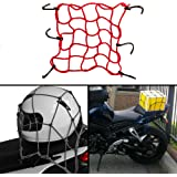 Autofy Universal Multipurpose Super Strong Bungee Net/Seat Jali for All Bikes  (Maroon)