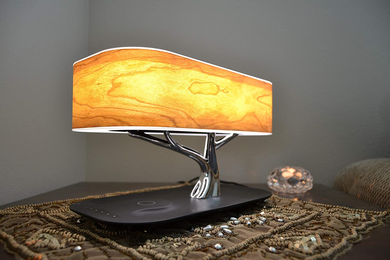 Amazon.com: Lámpara de noche con altavoz Bluetooth y ...