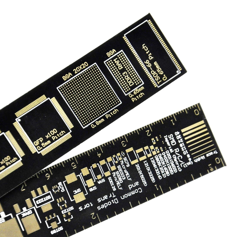 Pack of 2 pcs EK1907 Esooho Gikfun Reference PCB Ruler 6 Inch 15cm DIY Kit Measuring Tool for Arduino Electronic Engineers//Makers