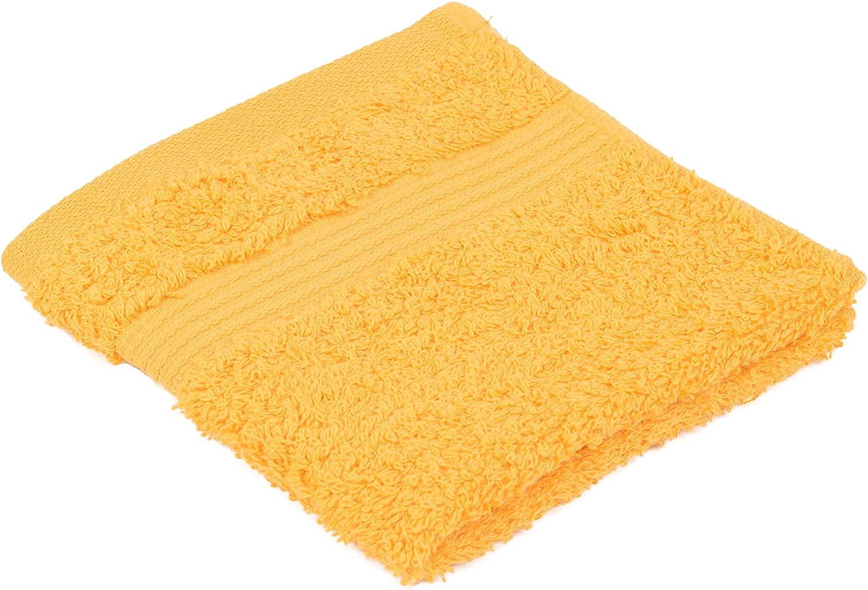 Color Amarillo 4 Unidades 100/% algod/ón, 550/g//m/², con Sello Oeko-Tex 100 Standard G/özze 550-1034-A1 Juego de Manoplas de ba/ño