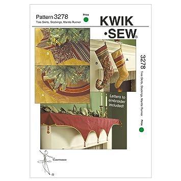 KWIK Schnittmuster Weihnachten K3278 mit Christbaumdecke ...