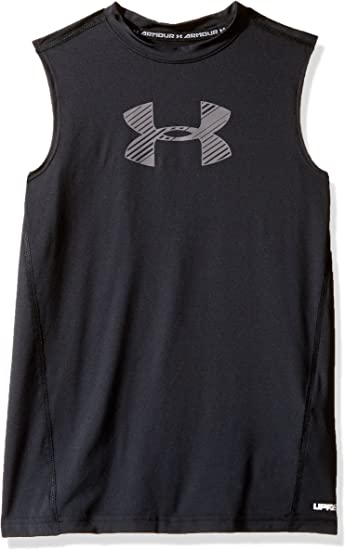 Boy/'s Little Youth Under Armour Heatgear Sleeveless Shirt and Shorts 2 Piece Set