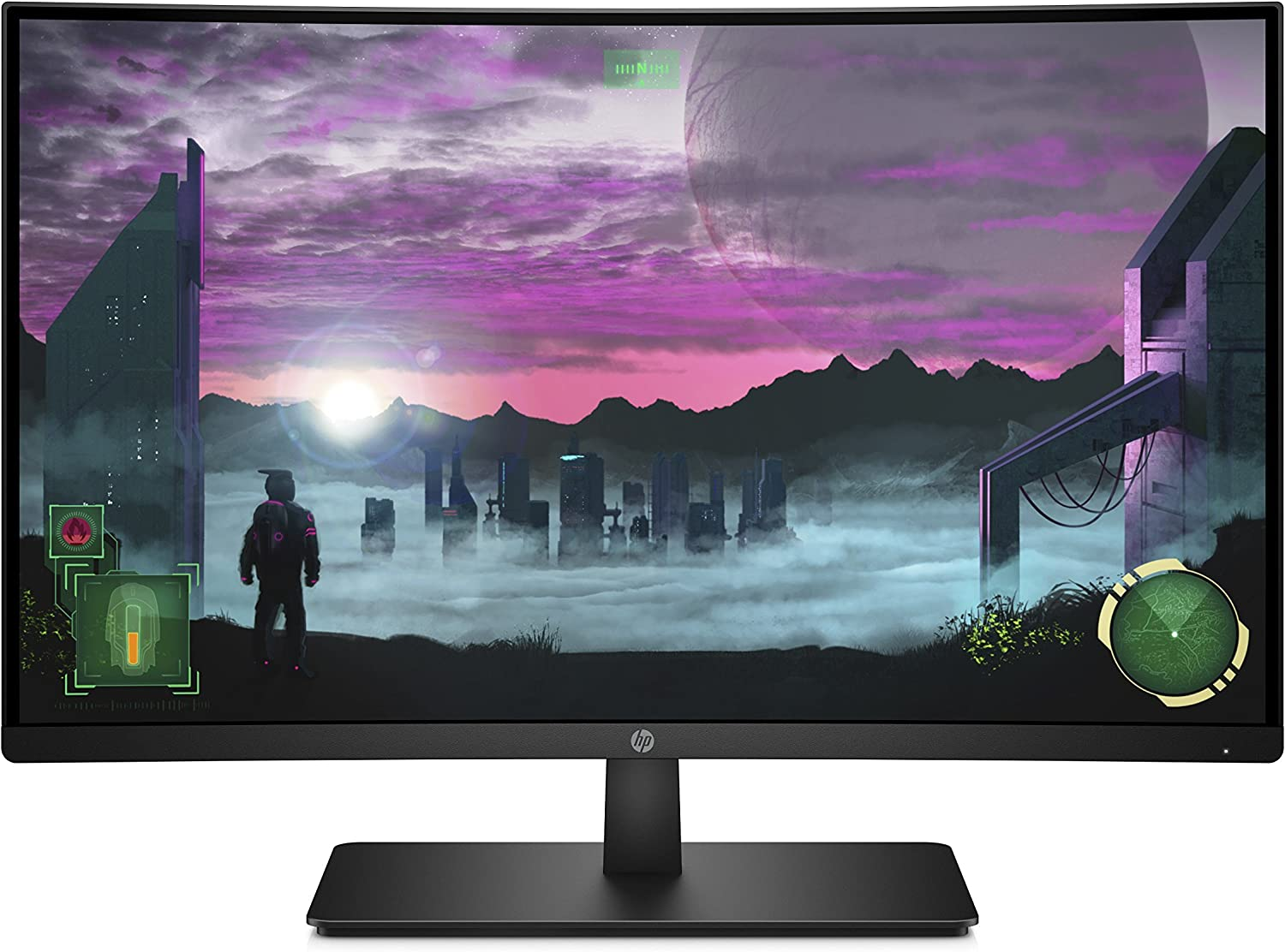 HP 27-inch FHD Curved Gaming Monitor with AMD Freesync Technology (27x, Black) (Renewed)