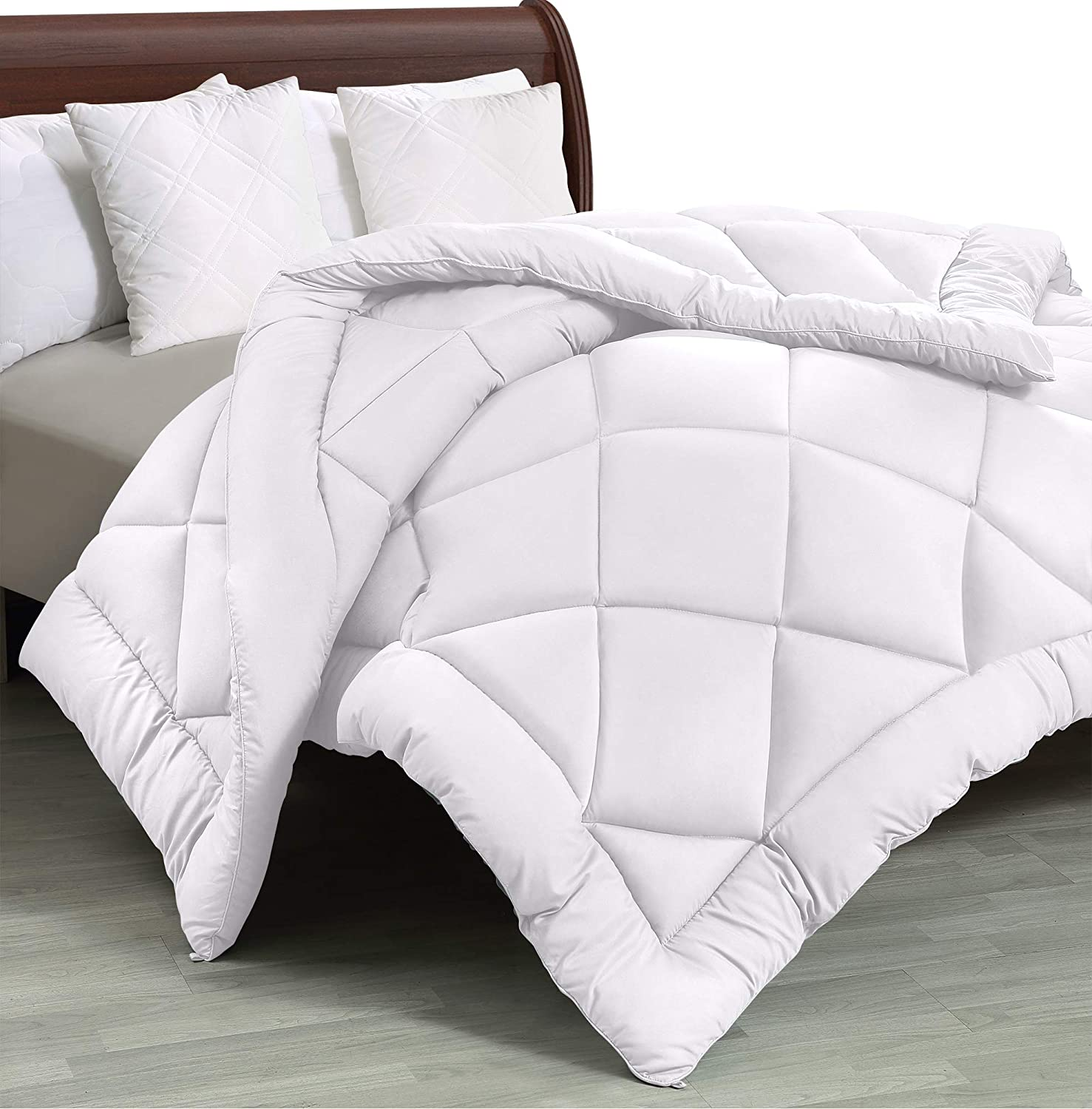 Utopia Bedding - All Season Quilted Duvet Insert - Goose Down Alternative Comforter - King/Cal King - White