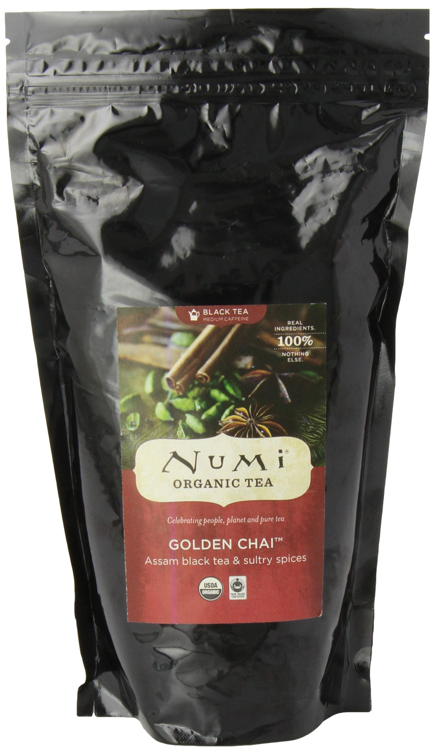 Numi Organic Tea Golden Chai, 16 Ounce Pouch (Pack of 6), Loose Leaf Black Tea by Numi Organic Tea (Image #5)
