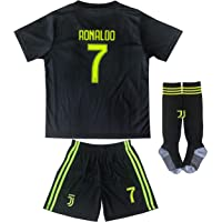 MFG 2018/2019 Cristiano Ronaldo Third Schwarz CR7 Juve Kinder Trikot Hose und Socken Kindergrößen
