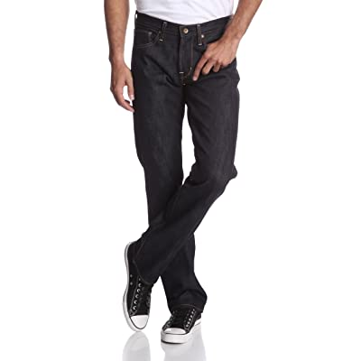 Big Star 1974 Men's Union Regular Fit Straight Leg 14.4 Oz Raw Selvage Denim Jeans Raw Dark Rinse at Men's Clothing store