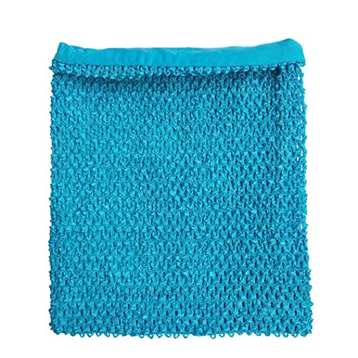 26c13b394c Amazon.com  Turquoise Crochet Tutu Top Lined 12 Inches X 10 Inches ...