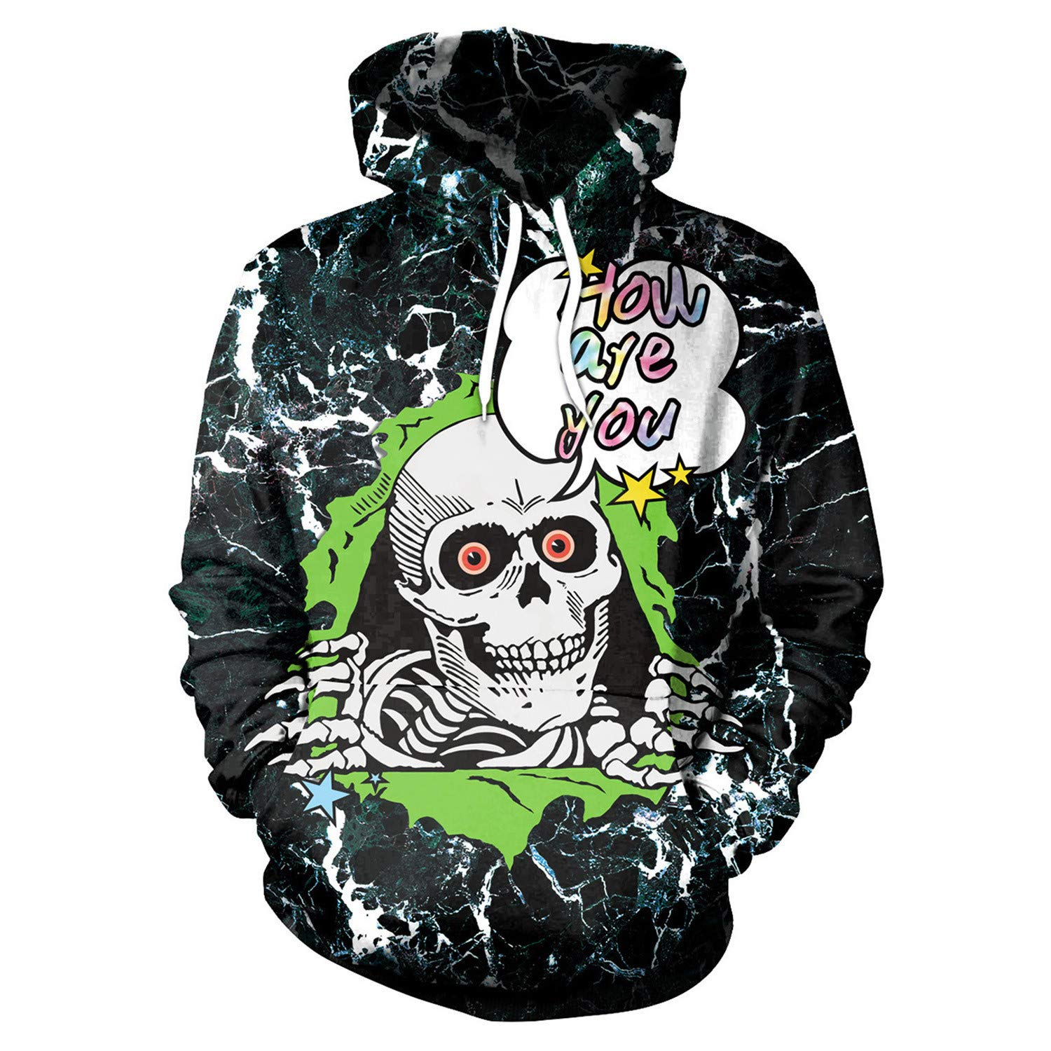 Mrsrui 3D Print Galaxy Hooded Shirts with Pockets for Men,Women, Teen by Mrsrui