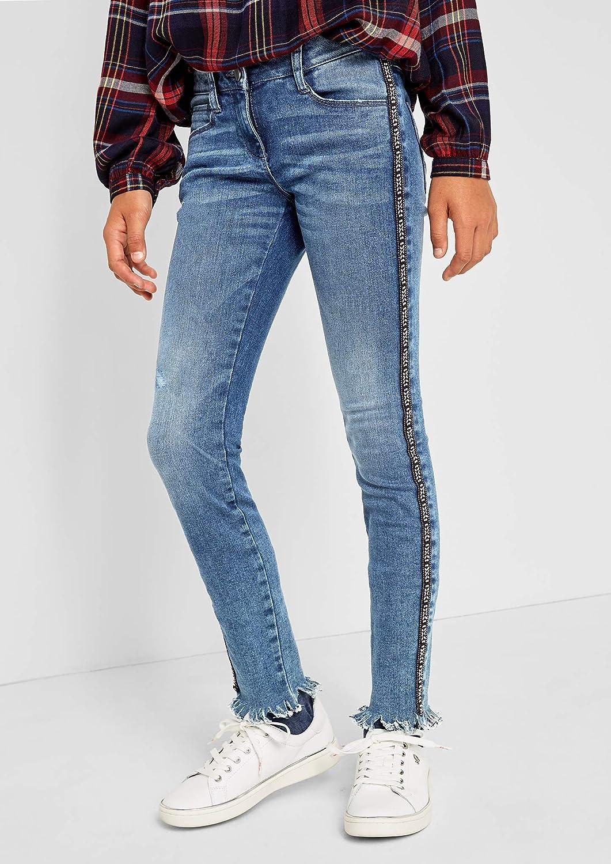 s.Oliver RED Label Junior M/ädchen Skinny Suri Jeans mit Galonstreifen