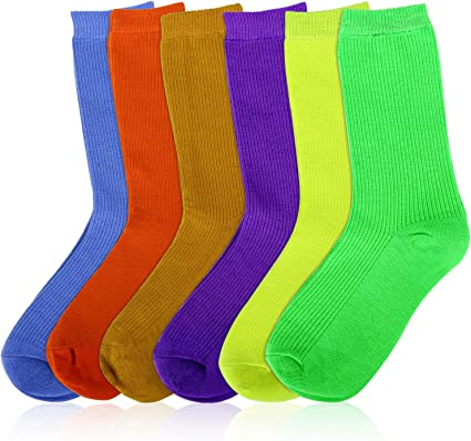 MOSOTECH Calcetines Mujer, 6 Pairs Color Brillante Calcetines de ...