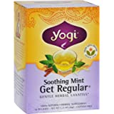 Yogi Herbal Tea Get Regular Caffeine Free Soothing Mint -- 16 Tea Bags