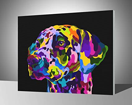 Wooden Framed Paint by Numbers for Adults /& Kids /& Beginner iFymei DIY Oil Painting Kit Colorful Elephants 16 x 20 inch Canvas /& Acrylic Paints