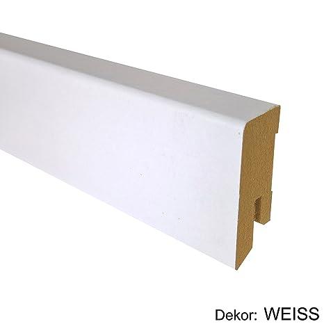 Bekannt 25 m TRECOR® Sockelleiste Weiß 40 mm Hoch | CUBE Form 16 x 40 PD81