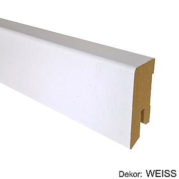 25 M Trecor Reg Sockelleiste Weiss 40 Mm Hoch Cube Form 16 X 40 Mm