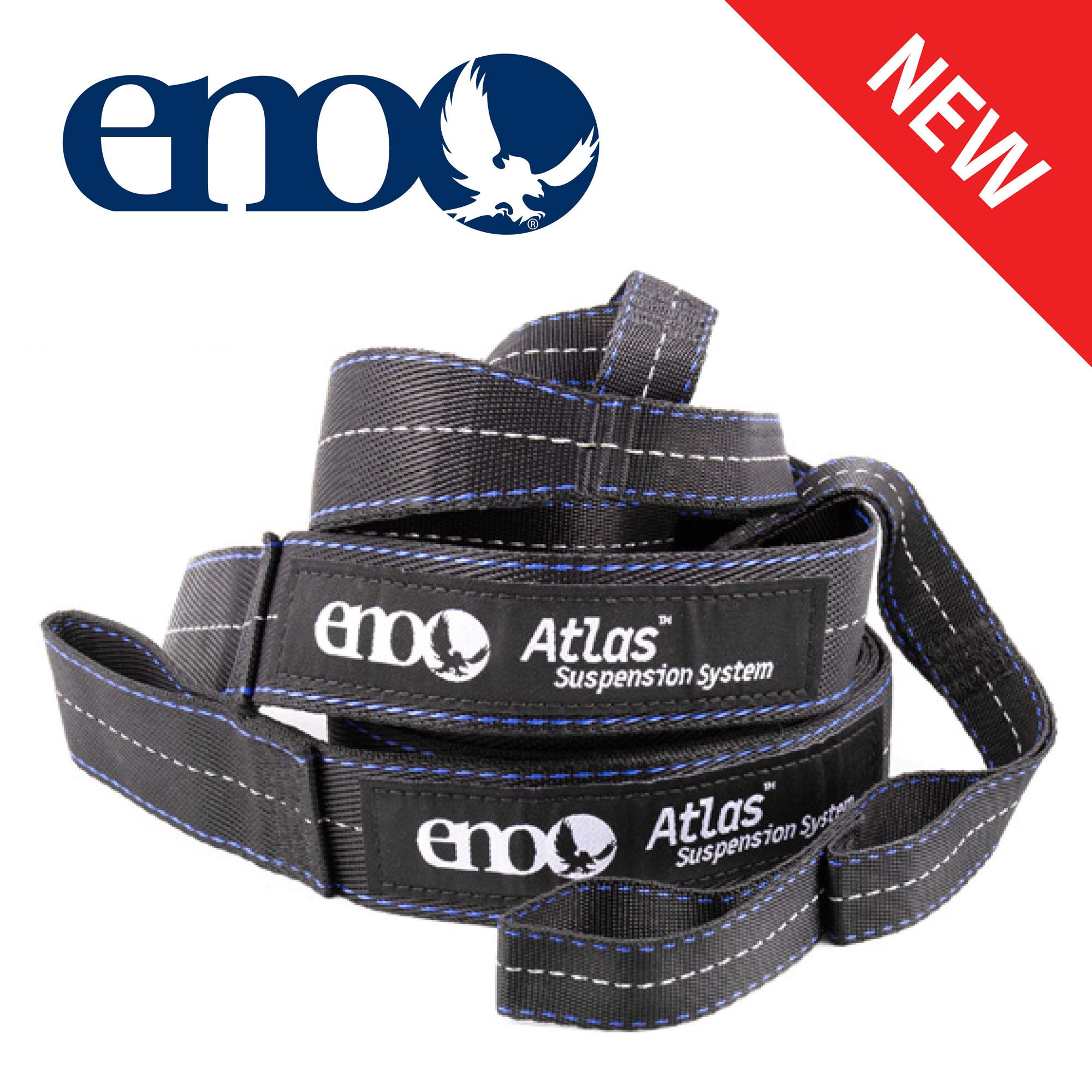 Eno Atlas Hammock Suspension System Straps Charcoal/Royal One Size by ENO