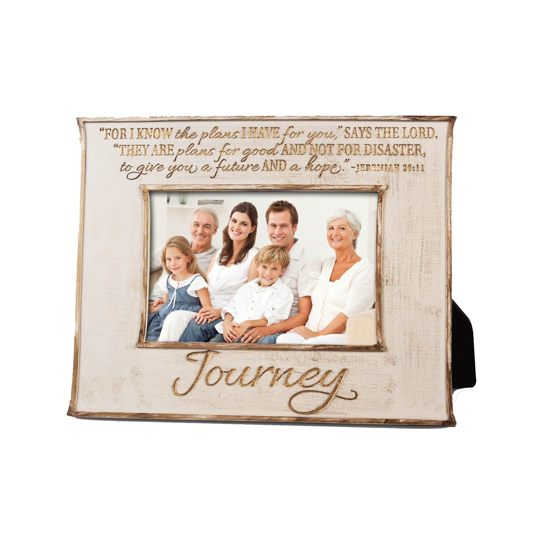 Lighthouse Christian Products Journey Linen Texture Frame, 4 x 6'', Cream