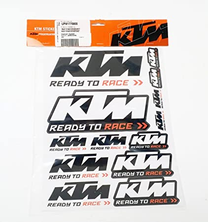 amazon com ktm ready to race sticker sheet upw1770800 automotive