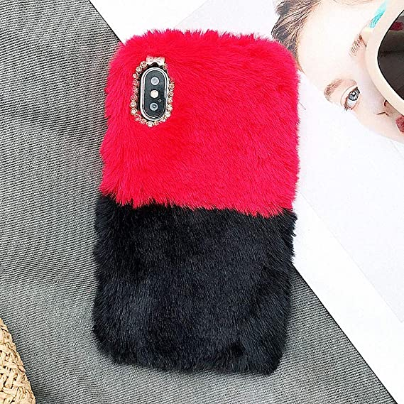 best website ae824 be87a Amazon.com: for iPhone 7 Plus iPhone 8 Plus Bling Furry Case, L ...