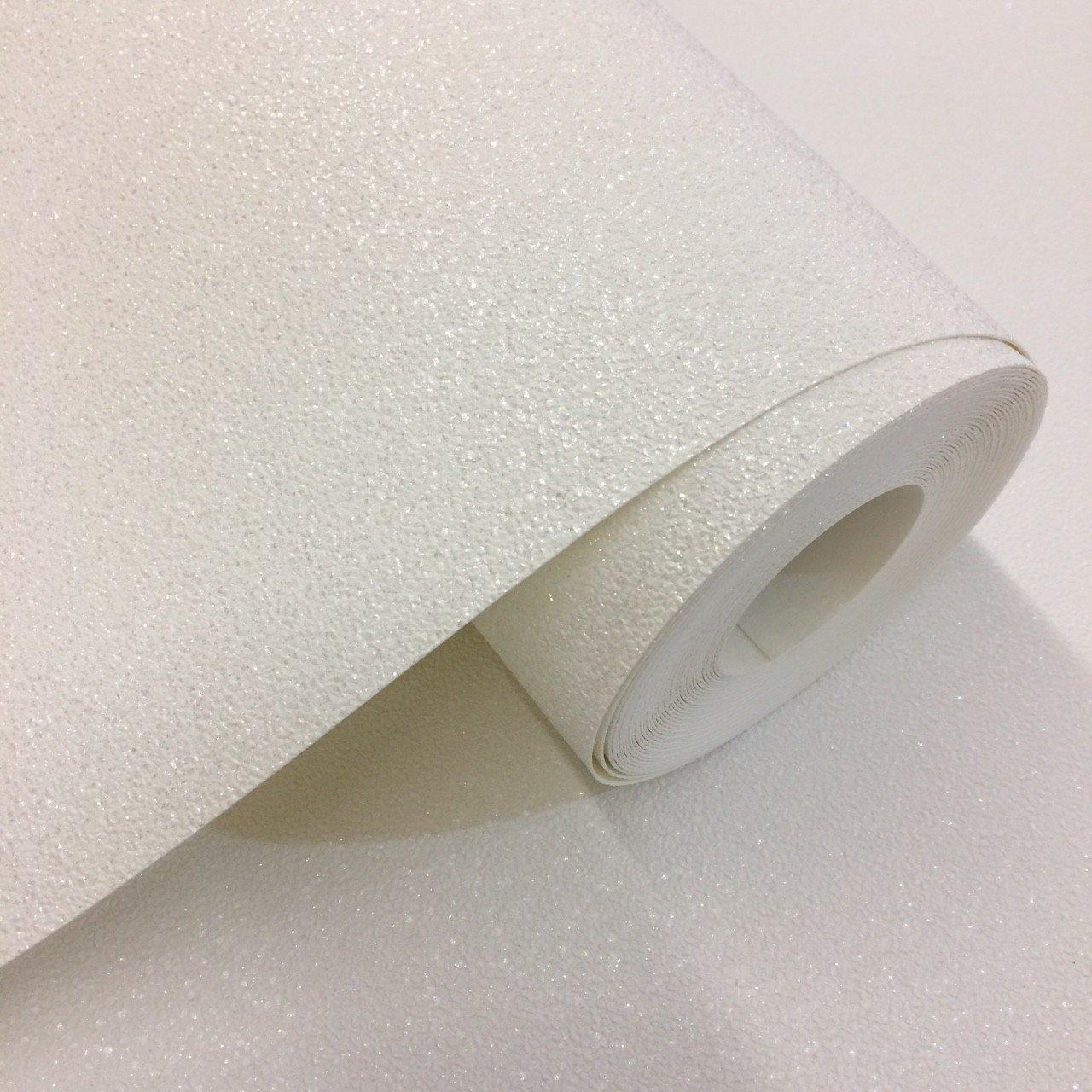 White Glitter - Wallpaper Border - 10 Metres Long x 17.6cm Wide wallpapers2u