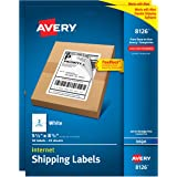 Avery Shipping Address Labels, Inkjet Printers, 100 Labels, Half Sheet Labels, Permanent Adhesive, TrueBlock (2-Pack 8126)