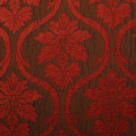Óxido rojo y bronce y diseño de flores Reversible de ...