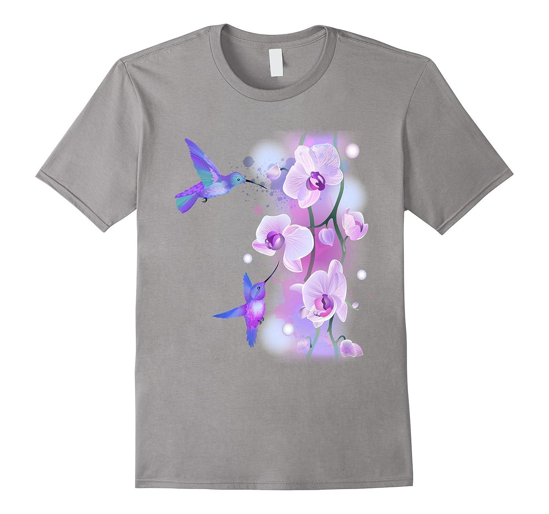Hummingbird Floral t-shirt-RT