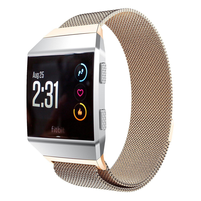 Biaoge Fitbit Ionicバンドスモール&ラージ、磁気ステンレススチールMilanese Loopメタル交換用ストラップfor Fitbit Ionic Watchレディースメンズ Small:5.5''-8.5''|ローズゴールド ローズゴールド Small:5.5''-8.5'' B076LXW8FZ