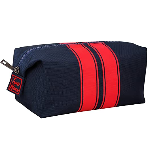 d8034450494 Toiletry Bag Shaving Dopp Kit for Men Navy Blue with Red stripes – Stylish  Mens Toiletry
