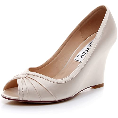 Buy LUXVEER Satin Wedding Shoes Bridal
