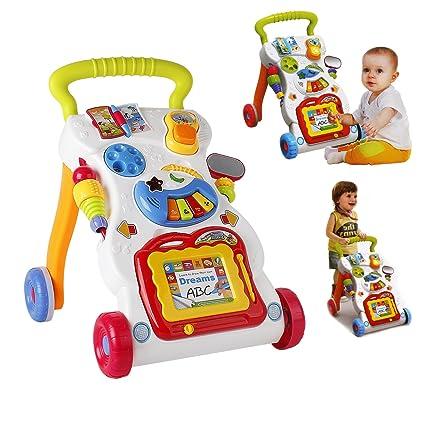 Parte unidad y carrito Baby unidad (para bebés 13016 – Pizarra con caracteres Andador,