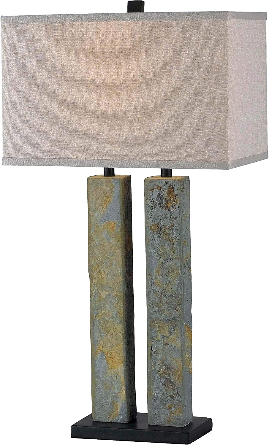 Kenroy Home Rustic Table Lamp ,30 Inch Height, 16 Inch Width,9 Inch Ext. with Natural Slate Finish