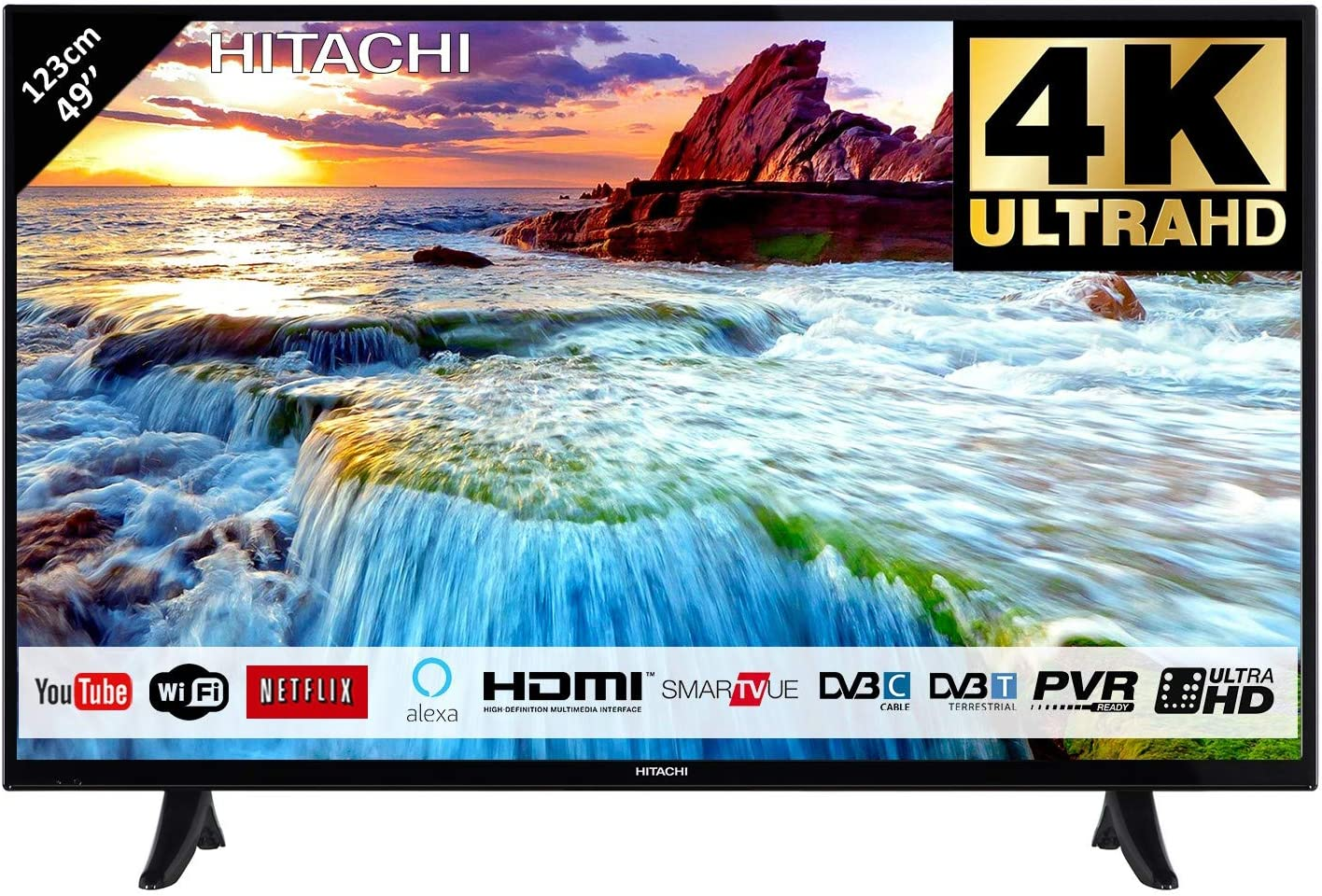 Hitachi 49F501HK5000 TV (123 cm) mpeg4 50 Hz: Amazon.es: Electrónica