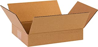 """product image for Partners Brand P1182 Flat Corrugated Boxes, 11 1/4""""L x 8 3/4""""W x 2 3/4""""H, Kraft (Pack of 25)"""