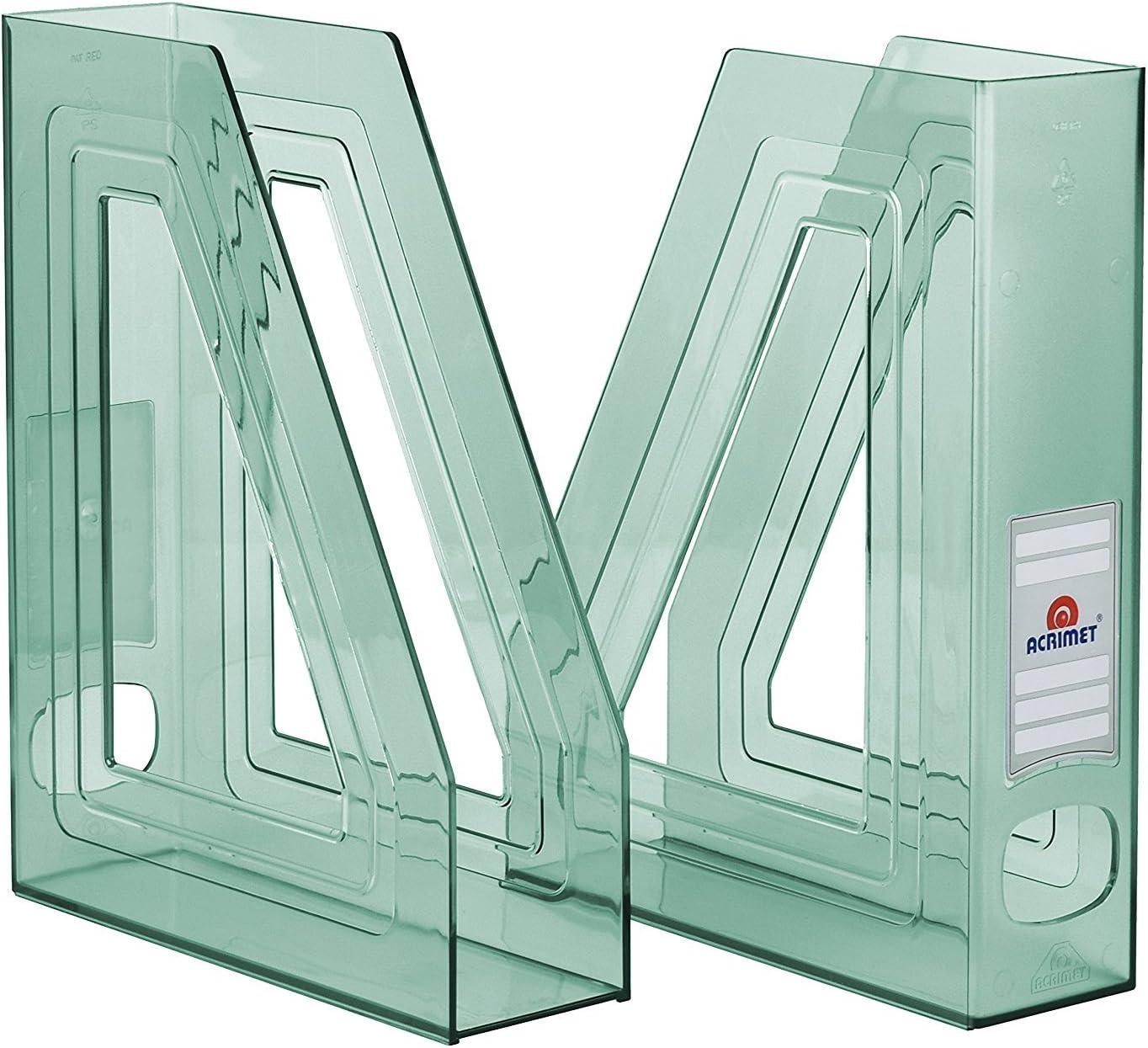 Confezione con 2 unit/à Acrimet Portariviste Colore Rosa Chiaro