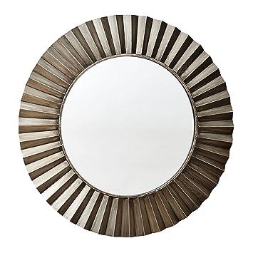 household essentials round decorative sunburst wall mirror bronze - Round Decorative Mirror