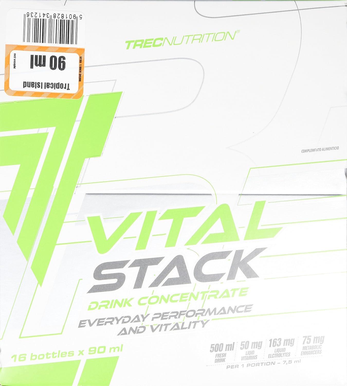 Trec Nutrition Vital Stack, Bebida Energética, Sabor Tropical - 90 ml: Amazon.es: Salud y cuidado personal