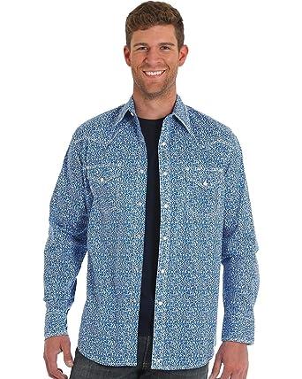 d5ccb72b6fe95 Wrangler Men s 20X Blue Paisley Competition Shirt at Amazon Men s ...