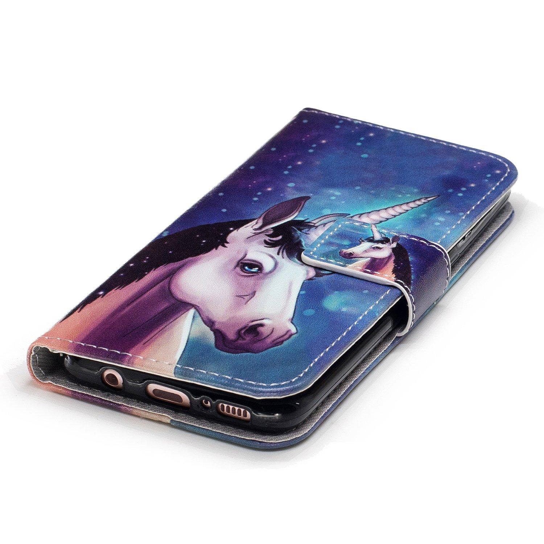 Samsung Galaxy S8 Plus H/ülle Edaroo Sch/ön Pink Blau Gradient Muster Ultra Slim PU Leder Brieftasche mit Kreditkarte Tasche Magnetisch Schutzh/ülle Ledertasche Lederh/ülle f/ür Samsung S8 Plus