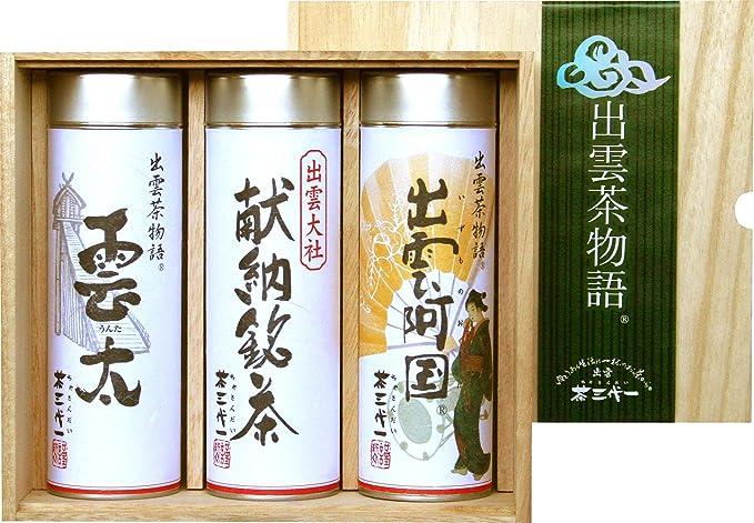 茶三代一 出雲大社献納銘茶 I-50A 高級煎茶3本セット
