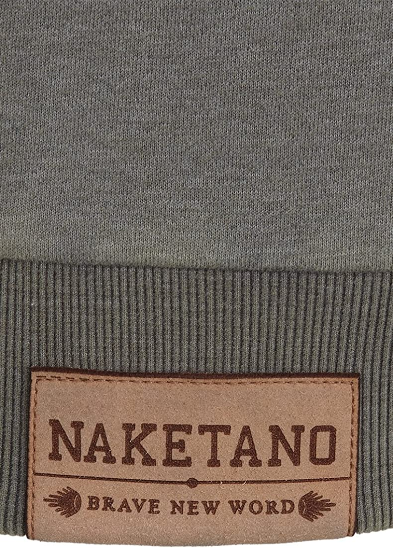 Naketano Herren Sweater First Blood VI Sweater Heritage Dark Grey Melang